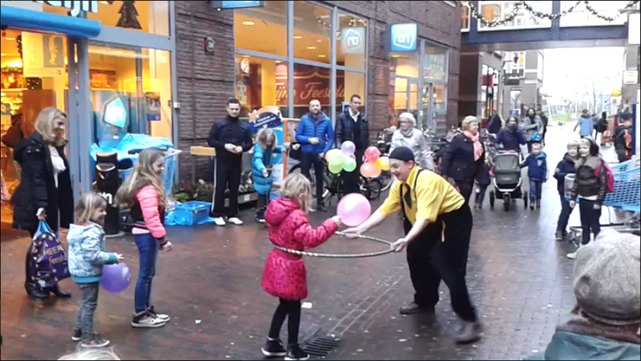 Clown Wintercircus promotie