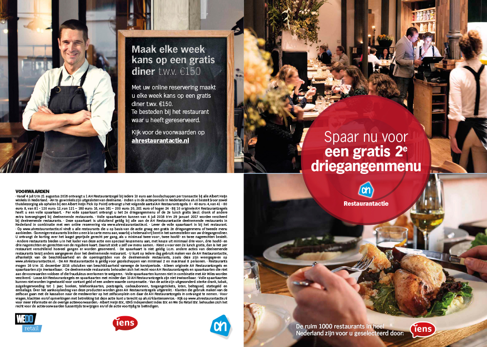restaurantspaaractie 2016 - we do retail